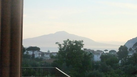 Hotel Girasole : Early morning view of Vesuvius from room 37