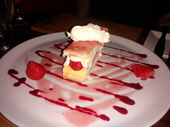 The Lambton Worm: Strawberry mille-feuille