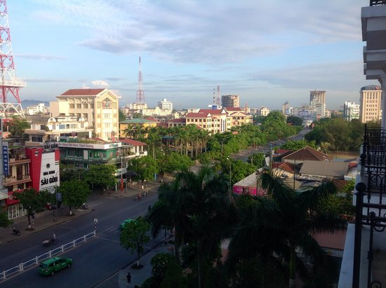 Indochine Palace: View from the 5th floor towards the city.