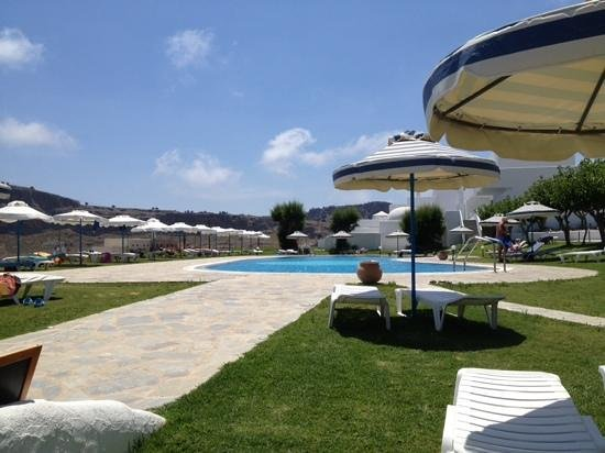 Lindos Sun Hotel : the hotels sun terrace and pool