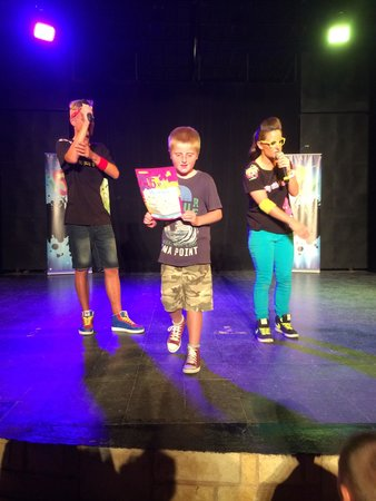 Holiday Village Manar: Alec up on stage for his Birthday