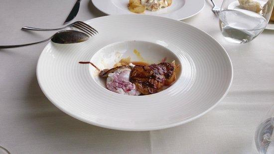 Galileo Restaurante : Huevos de corral escalfados con foie y chips