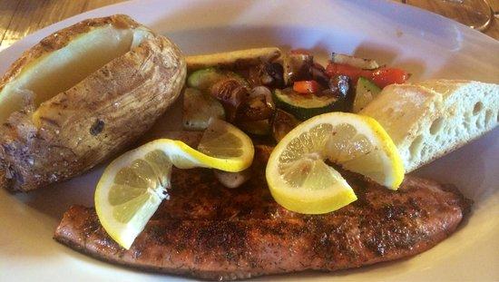 Hatchet Resort: Grilled trout at The Whetstone (Hatchet Dining). Thoroughly enjoyable.