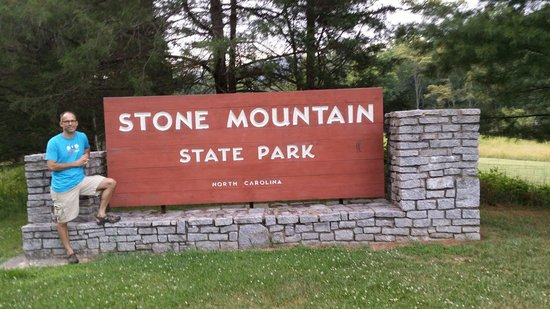 Stone Mountain State Park: Entrance (one of two)