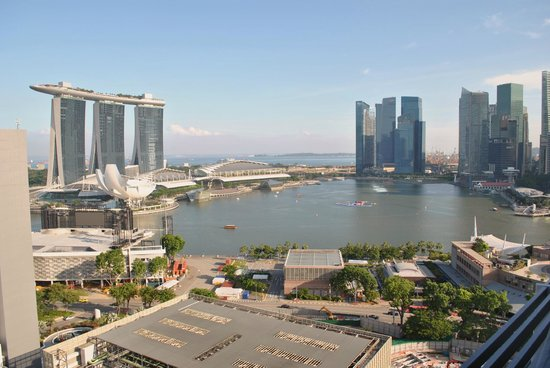 Marina Mandarin Singapore: View from room 2132.