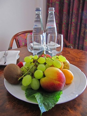 Hotel Olimpo: Welcome drink and fruit