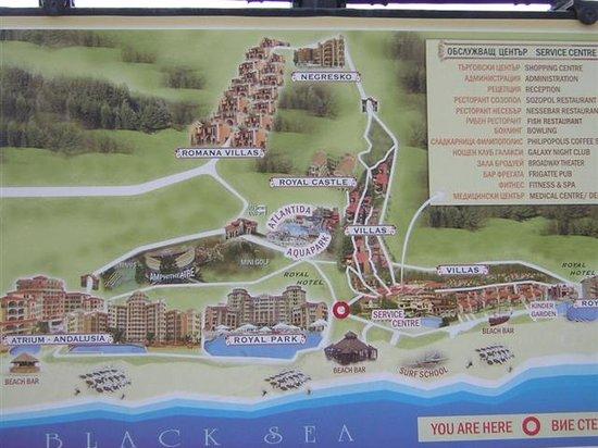 Hotel Royal Castle: Карта комплекса