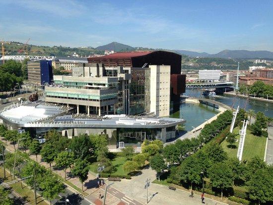 Melia Bilbao: view of river and Euskalduna