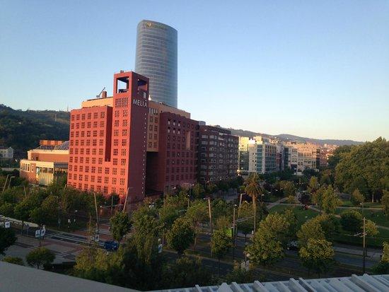 Melia Bilbao: view of hotel from Extanobe restaurant