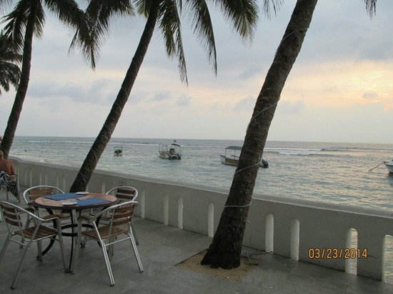 Hikkaduwa Beach Hotel: View from the patio.