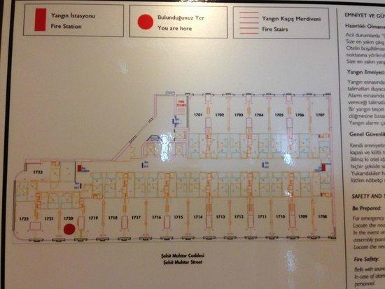 Elite World Istanbul  Hotel: Floorplan
