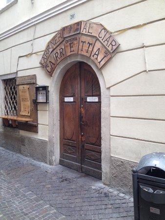 Osteria dai Carrettai: Entrance.