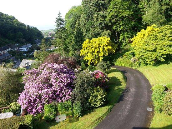 Glen Lodge : Blick von der Lodge Richtung Dorf