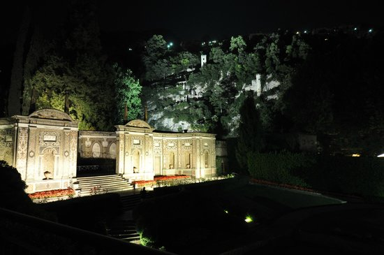 Villa d'Este: view at night from our balcony