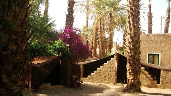 Camping Amasttou : Vue du Camping et des tentes
