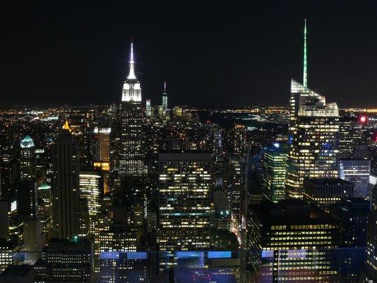 Rockefeller Center Tour : Вид на Манхэттен ночью