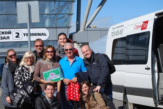 il gruppo dell'escursione con Aventura travel