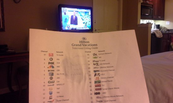 Hilton Grand Vacations at Tuscany Village: Even the TV Guide they gave me was all wrong!