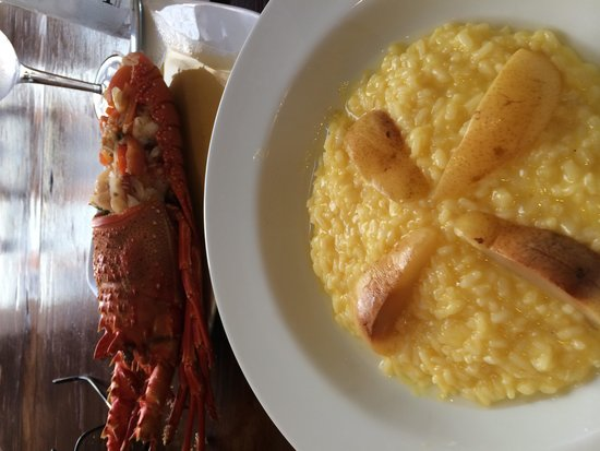Restaurante Porto: Grilled lobster and orange risotto