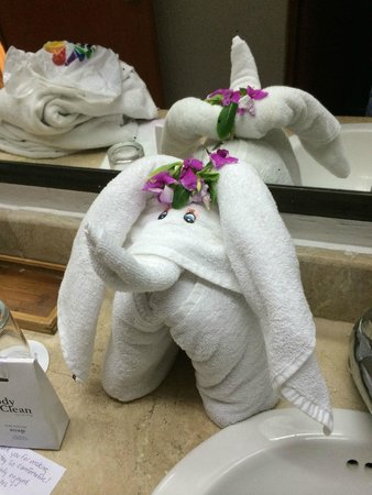 Laguna Suites Golf & Spa : Towel creation left by Adriana on our last day.