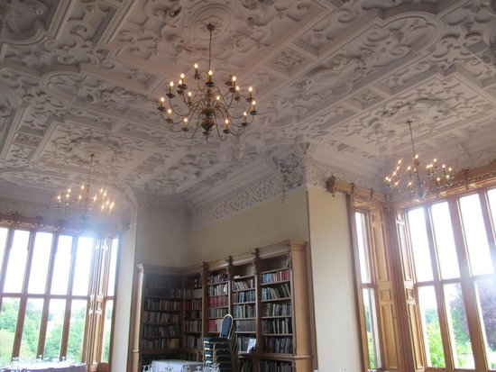 Stoke Rochford Hall: Library Ceiling