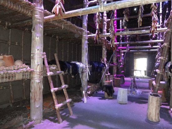 Musee Huron-Wendat: Inside Long House