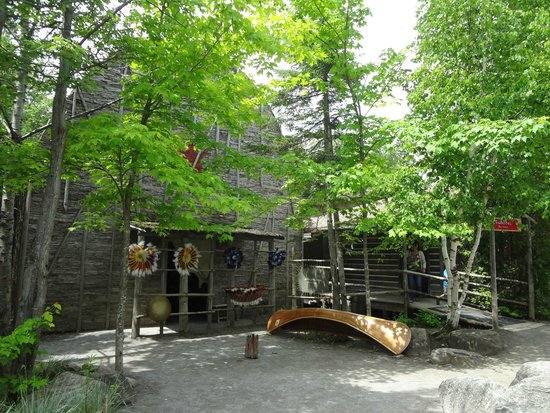 Site Traditionnel Huron: extérieur maison longue