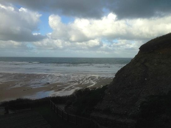 Watergate Bay Hotel: The view from our room in February