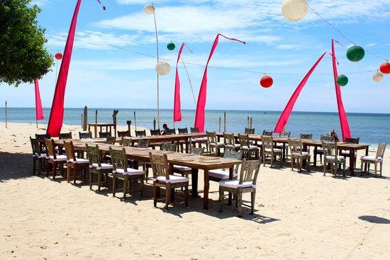 Hotel Tugu Lombok : Set up for the wedding