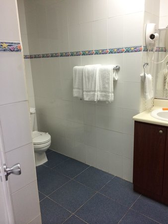 Villa Cofresi Hotel: Clean spacious bathroom