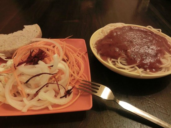 Hostel Mostel: 夕食