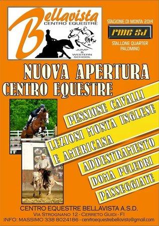 ASD Centro Equestre Bellavista: Volantino dell'apertura