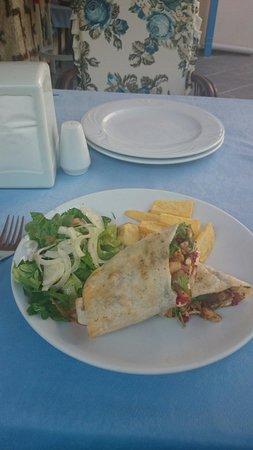 Ocean Restaurant: My wrap. Delicious!