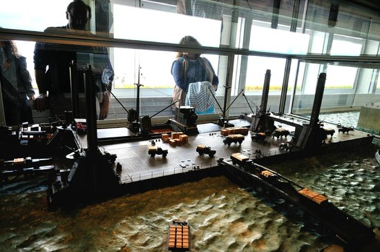 Musee du debarquement : la grande maquette animée