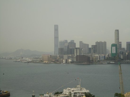 The Excelsior, Hong Kong: View of the bay from the hotel room window