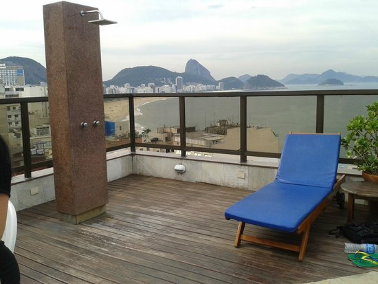 Copacabana Rio Hotel: Piscina na cobertura