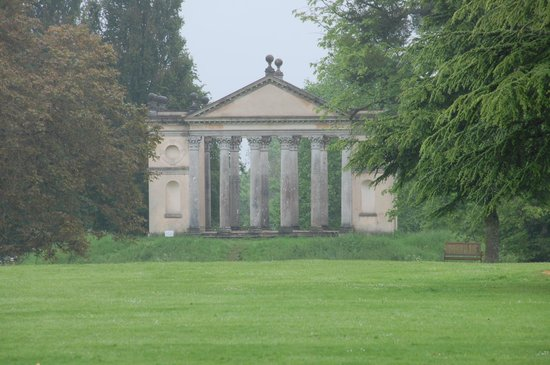 Highclere Castle: a view of the garden area