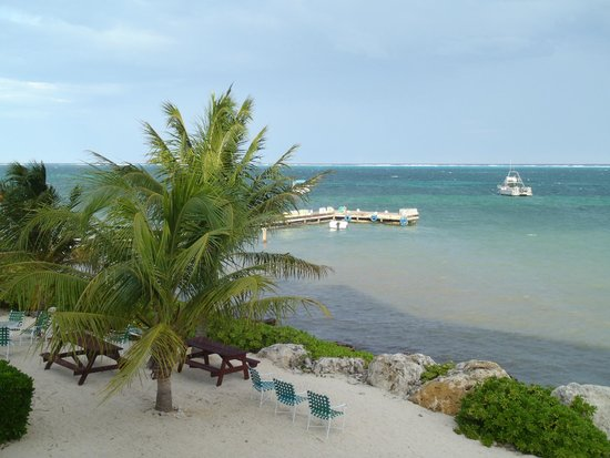 Compass Point Dive Resort: Looking east across the bay