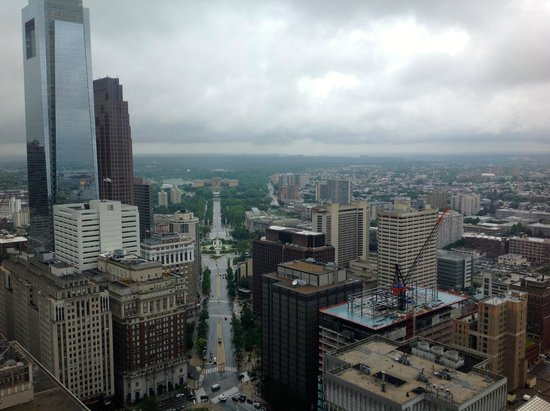 City Hall: Spectacular views even in the rain
