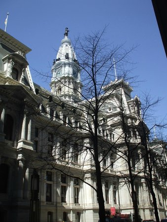 City Hall: The powerful facade in sunnier weather