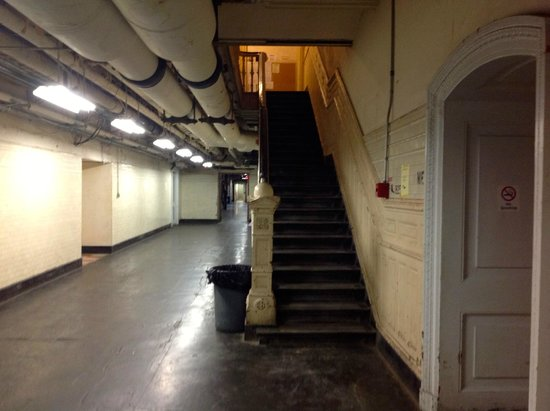 City Hall: The gloomy corridors retrofitted with ugly pipes