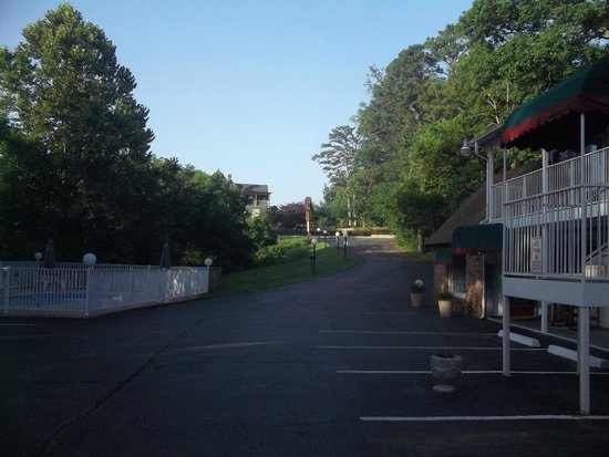 Days Inn Eureka Springs: view from motel to road we are off away from the hyw noise