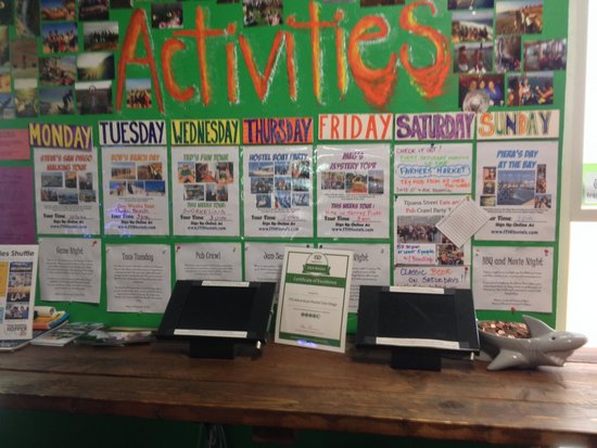 ITH Adventure Hostel San Diego: Activities Calendar