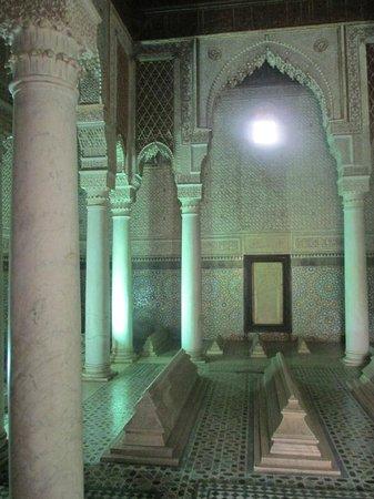 Saadian Tombs: The Chamber of the Twelve Pillars