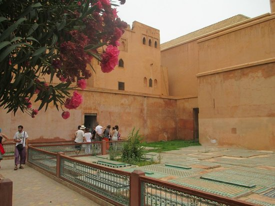Saadian Tombs: A view across to the entrance of the Chamber of the Twelve Pillars