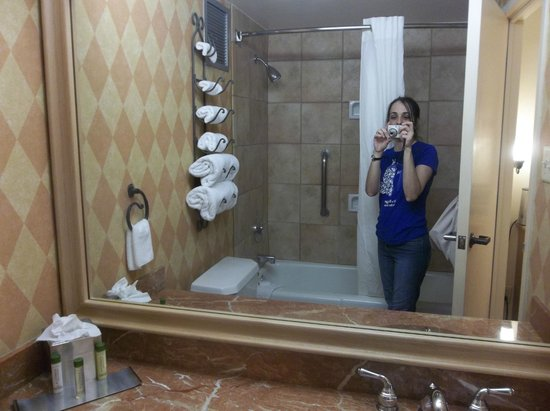 DoubleTree by Hilton Hotel San Antonio Airport : Tight space for bathroom pics