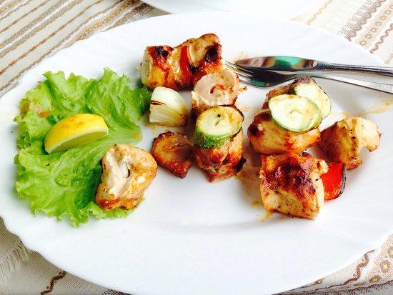 Fish Restaurant: Chicken skewer
