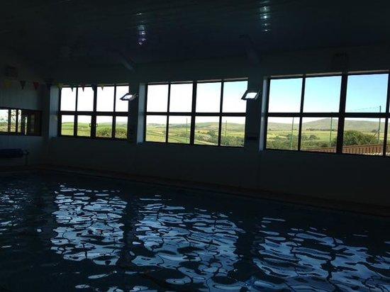 The Ashbury Hotel: Swimming pool overlooking Dartmoor