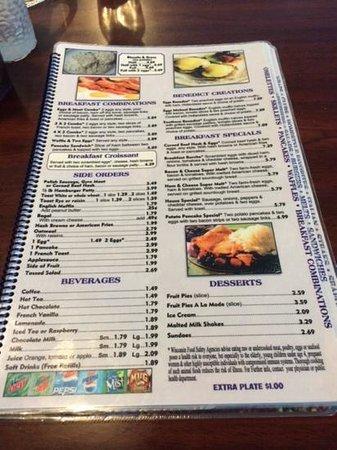 Jenny's Family Restaurant : breakfast menu page 2