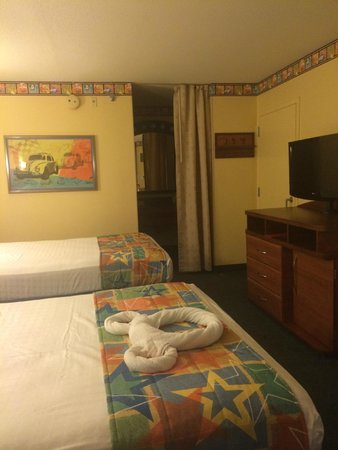 Disney's All-Star Movies Resort: view of the room from the door